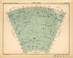 1910 star map arc 69 original antique constellation #maps
