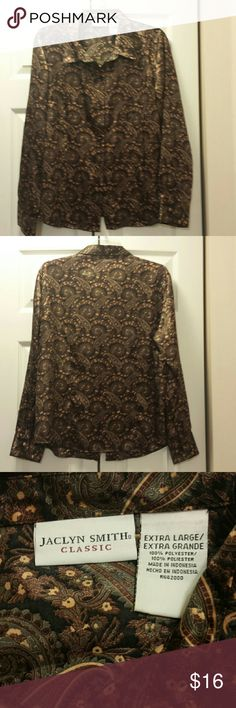 Jaclyn Smith Blouse Very nice pasely print print, like new. Jaclyn Smith Tops Blouses