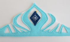 DIY felt Elsa crown