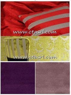 """VELLUTO, TESSUTO DE LUXE  Nel 1399 Riccardo II d'Inghilterra dichiarò che nessun altro tessuto avrebbe toccato la sua pelle. La sua lucentezza, la delicatezza al tatto, la leggerezza ne fanno un tessuto emblema di ricchezza e preziosità. Il velluto prende il suo nome dal termine latino """"vellus"""", vello o mantello. LEGGI TUTTO: http://www.ctasrl.com/news/r/velluto-tessuto-de-luxe/83.htm"""