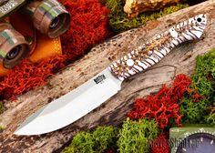 Bark River Knives: Mini-Kalahari - White Pinecone