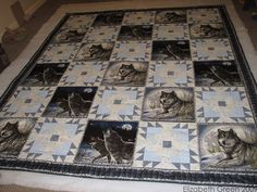 Wolf Material for Quilts | Wolf Quilt -- in progress