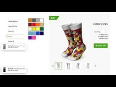 Design Socks Online using Socks Designer Tool | Idesignibuy