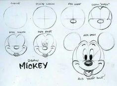 How to draw Mickey!