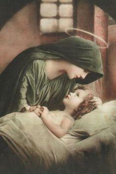 Child Jesus and His Mother Mary -mother love Religious Pictures, Religious Icons, Religious Art, Mama Mary, Blessed Mother Mary, Blessed Virgin Mary, Catholic Art, Catholic Saints, Roman Catholic