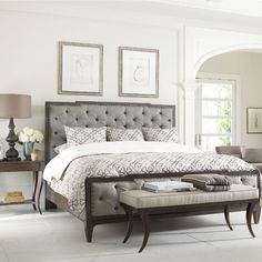 Bed or bombshell? We dare you to find a difference when the Thomasville Harlowe and Finch Mirabeau bed looks this good, with its deeply tufted headboard and nailhead trim finish! Bring some of today's hottest design trends to your bedroom with this and other stylish Thomasville furniture from West Coast Living