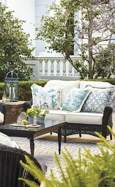 9f5f60e122e60b Charleston Seating in French Roast Finish   Frontgate. Outdoor Living ...