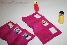 Host a sleepover and make little dolls that can have their own sleepover!