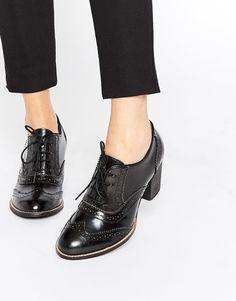 Park Lane - Budapester-Schuhe aus Leder mit hohem Absatz - Schwarz