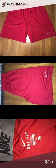 Nike shorts. These shorts are new and didn't fit! Red dryfit. Nike Shorts Athletic