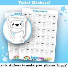 Our new stickers are a great way to plan when you need to clean the toilet! Shame they can't make it anymore fun..! #happycutiestudio #supporthandmade #etsy #sticker #stationery #illustration #cute #design #vector #kawaii #planner #planneraddict #plannerlove #plannergirl #plannerstickers #plannercommunity #plannerjunkie #plannergeek #happyplanner #filofax #erincondren #lovetoplan #stickeraddict #plannernerd #silhouettecameo #eclp by happycutiestudio