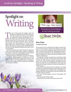 Spotlight On Writing   The Old Schoolhouse Magazine - February 2013 - Page 58-59