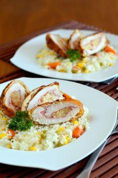 Hawaii csirkemell gesztenyés bundában - Kifőztük, online gasztromagazin Hawaii, Risotto, Cook Books, Meals, Dishes, Cooking, Breakfast, Ethnic Recipes, Desk