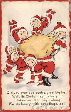 "Antique Christmas ""Nimble Nicks "" postcard"
