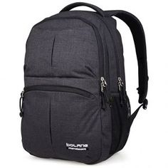 814a5d5b1820 BOLANG Water Resistant Nylon School Bag College Laptop Backpack 8459 Black  -- See this great product. (This is an affiliate link)
