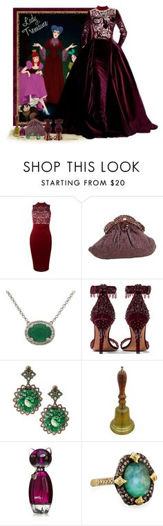 """""""Disney's Cinderella - Lady Tremaine"""" by love-n-laughter ❤ liked on Polyvore featuring Disney, Boohoo, Givenchy, Bavna, Armenta and disney"""