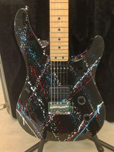 Peavey USA Tracer Used Custom Splatter Electric Guitar with OHSC