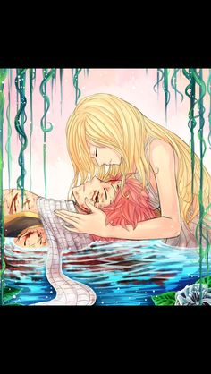 I lobe this picture of natsu and lucy ship it all the way