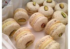 White Choc & Pistachio Macarons   Recipes   Bulla Cream