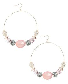 Romantic Beaded Hoop Earring - Jewelry