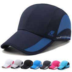 Blue Baseball Caps Unisex Mesh Adjustable Snapback Cap Women Ventilation Hat Anti-Uv Casual Men Baseball Hats