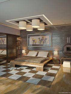 Braun,Creme,moderne,Schlafzimmer