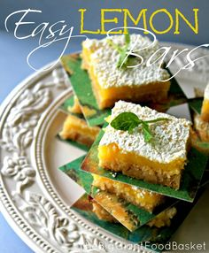 The Big Giant Food Basket: Easy Bake Lemon Bars using a roll of sugar cookie dough for the base
