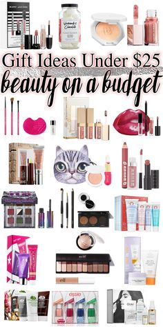 Gift Ideas Under $25 - beauty on a budget! Affordable makeup, skincare, hair care gifts for Valentine's Day!