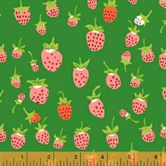 Heather Ross - Briar Rose - Strawberry in Green
