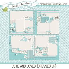 Cute and Loved {Dressed Up} templates were created to help you document your love for the oh-so-cute in your life. From babies to children to precious pets, this set is ideal for focusing on your photos!   This personal use/S4H template set includes four (4) layered 12x12 templates in...