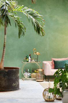 38 Best Summer Interior Design Ideas To Beautify Your Home Interior Tropical, Tropical Decor, Summer Deco, Bar Design, Design Ideas, House Design, Green Home Decor, Living Room Green, Scandinavian Interior Design