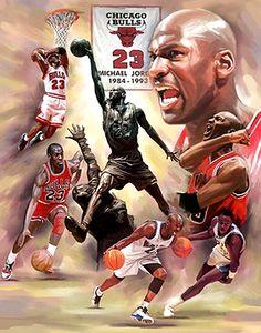 Michael Jordan Fresh Air Chicago Bulls Premium Art Print Poster by Wishum Gregory