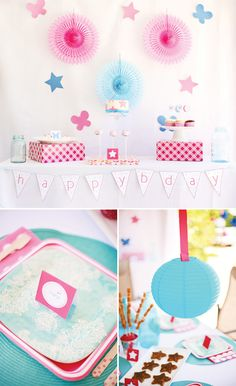 Simple & Sweet American Girl Birthday Party // Hostess with the . American Girl Birthday, American Girl Parties, American Girl Crafts, Kendall Birthday, 6th Birthday Parties, Birthday Ideas, Creative Party Ideas, Doll Party, Party Places