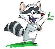 Jugando en Serio Animation Studio Raccoon Illustration, Character Illustration, Illustration Art, Cute Animal Drawings, Animal Sketches, Cartoon Drawings, Raccoon Drawing, Raccoon Art, Cute Drawlings