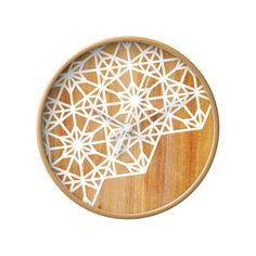 Keeping track of time will become a stylish affair with this stunning wall clock. Gorgeously made from naturally finished wood, this Newcomb Wall Clock bears a beautiful white floral design on its cloc...  Find the Newcomb Wall Clock, as seen in the Summer of Love Collection at http://dotandbo.com/collections/summer-of-love-1?utm_source=pinterest&utm_medium=organic&db_sku=112516