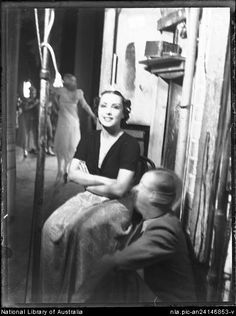 Portrait of an unidentified female dancer backstage, Ballets Russes Australian tour, ca. 1938 / The Geoffrey Ingram Collection. Female Dancers, Backstage, Tours, Ballet, Portrait, People, Collection, Headshot Photography, Portrait Paintings