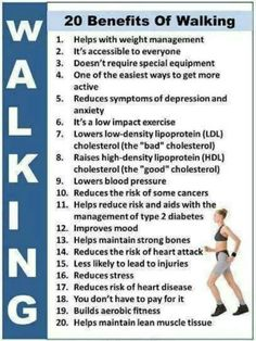 Benefits of walking. #WALK