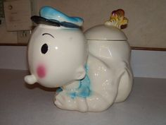 Sweet Pea Cookie Jar by American Bisque