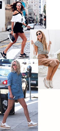 Street style look com sapato cut out.