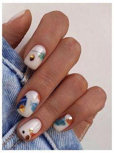 Manicure Y Pedicure, Gel Nails, Acrylic Nails, Short Nail Manicure, Funky Nails, Cute Nails, Funky Nail Art, Colorful Nail, Stylish Nails
