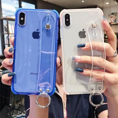 Glitter Powder Holder Phone Case For iPhone Wrist Strap Shockproof Back Cover - Phone - Phoneaccessories 2020 Cute Phone Cases, Iphone Phone Cases, Mobile Phone Cases, Phone Covers, Iphone 8 Plus, Modelos Iphone, Accessoires Iphone, Iphone Holder, Airpod Case