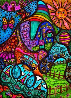 Pin by stella millet on murals art, hippie art, psychedelic art. Zantangle Art, Mural Art, Kunst Inspo, Art Inspo, Trippy Drawings, Art Drawings, Psychedelic Art, Kombi Hippie, Video Nature