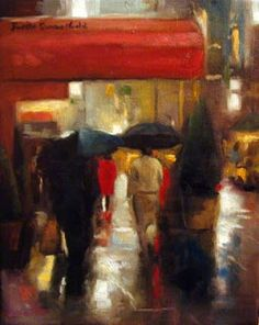 Jonelle Summerfield Oil Paintings: Rainy Day in Manhattan  un récent voyage à New York