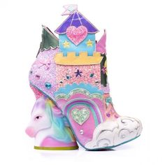 hochzeitsschuhe rainbow Irregular Choice Dreams Come True Family Reunion Unicorn Boots Celebrating 20 years o Dream Shoes, Crazy Shoes, New Shoes, Women's Shoes, High Heel Boots, Shoe Boots, High Heels, Irregular Choice Heels, Irregular Shoes