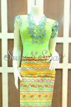 drap and traditional wear Myanmar Traditional Dress, Traditional Dresses, Lovely Dresses, Elegant Dresses, Myanmar Dress Design, Indian Skirt, Thai Dress, Ankara Gowns, Lace Design