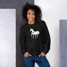 Horse Sweatshirt Mama Bear Sweatshirt, T Shirt Boss, Horse Sweatshirts, Hoodies, Mascara 3d, Autumn T Shirts, Delta Sigma Theta, Rib Knit, Long Sleeve Tees