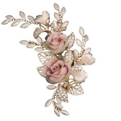 Rose and Gold Leaf Wedding Clip ($86) ❤ liked on Polyvore featuring accessories, hair accessories, rose hair accessories, bridal hair accessories, gold hair accessories, flower hair accessories and bride hair accessories