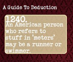 A Guide To Deduction #1240 | Suggested Anonymously