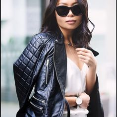 ZARA QUILTED SHOULDER BIKER REAL LEATHER JACKET!! Brand new with tags. Blogger fave and sold out! Size small. Grab it while you can! Zara Jackets & Coats