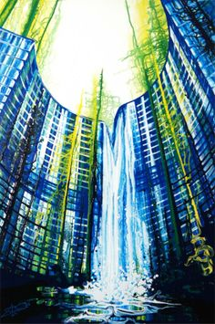 Amy Shakleton. The vibrancy of colours create a futuristic appearance.